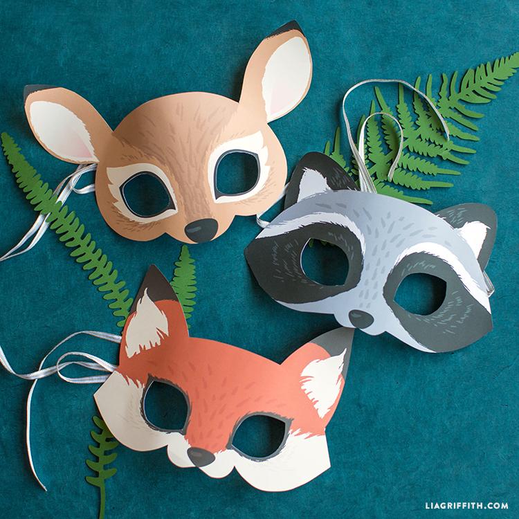 printable woodland animal masks