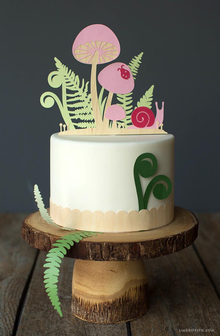 woodland cake topper