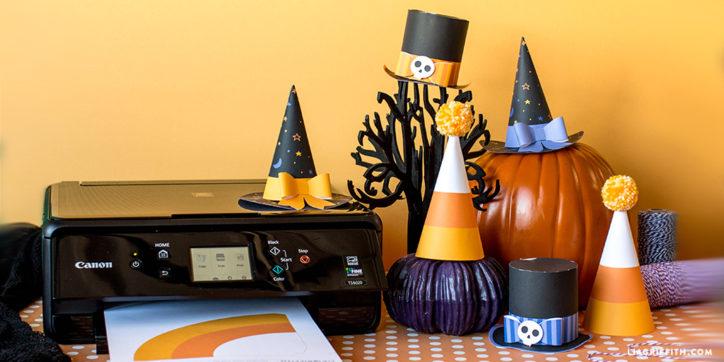 printable halloween party hats