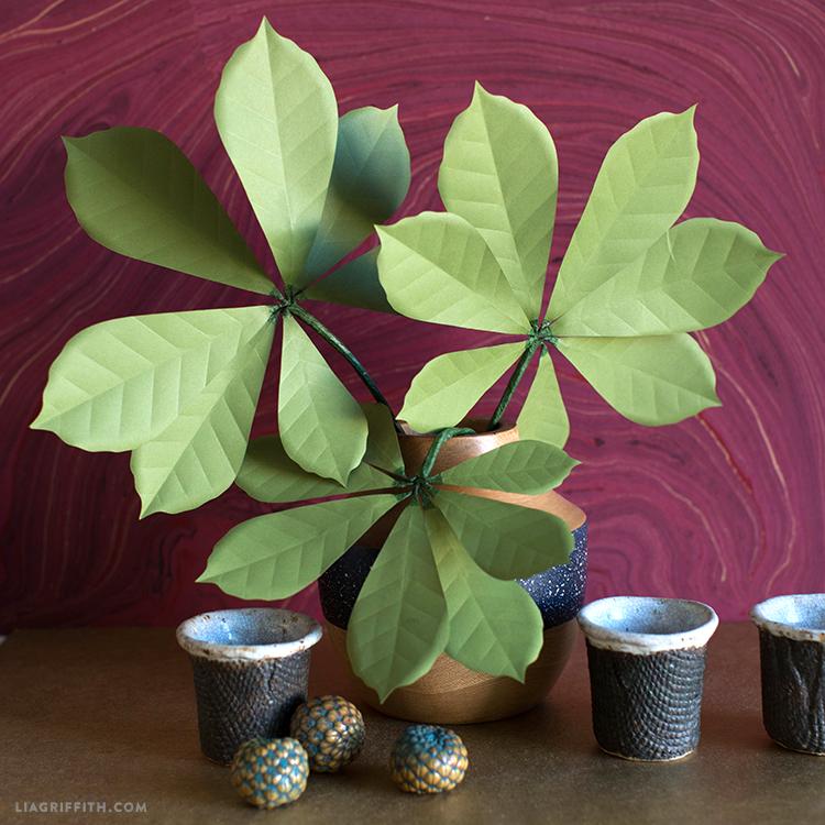 paper chestnut leaves