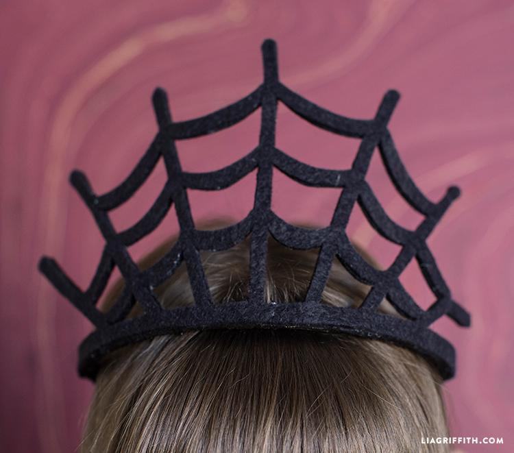 spiderweb crown for Halloween