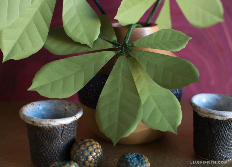 diy chestnut leaves