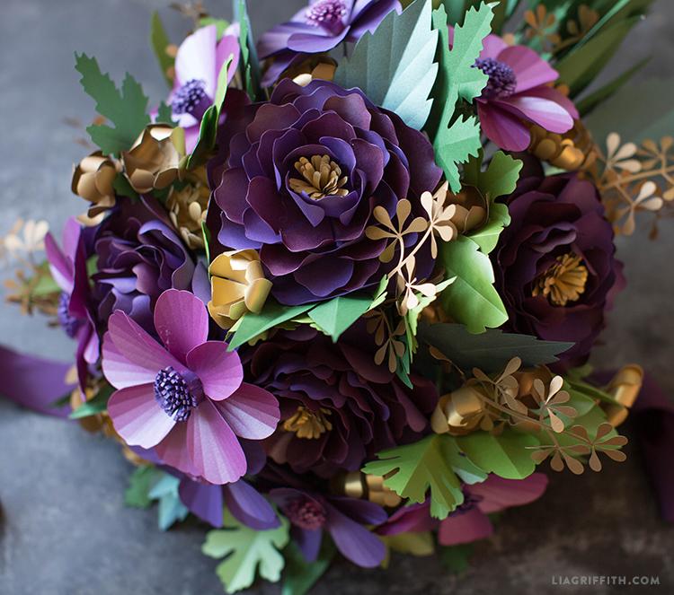 fall paper flower bouquet