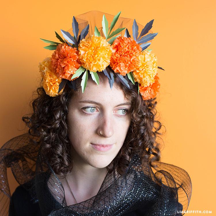 diy marigold flower crown