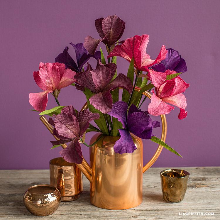 diy paper iris