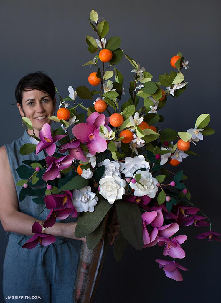 giant paper bouquet for cricut