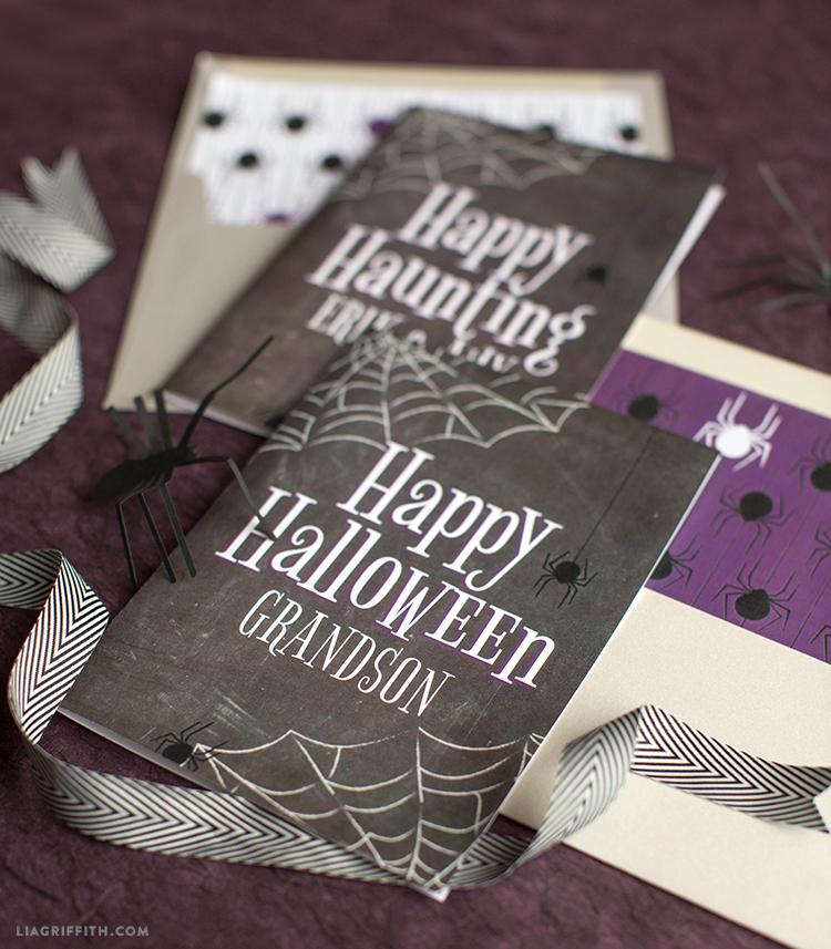 printable halloween greeting cards