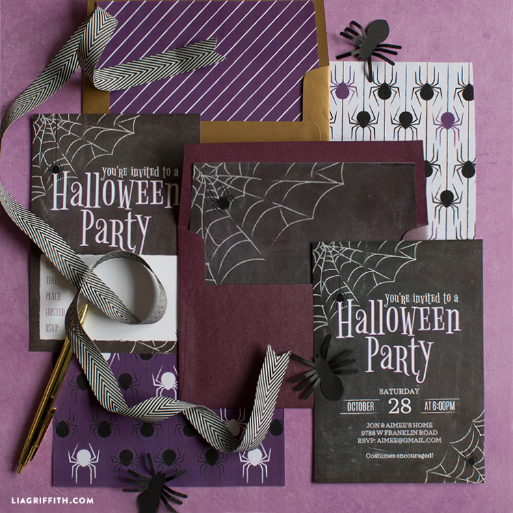 diy halloween invitation suite