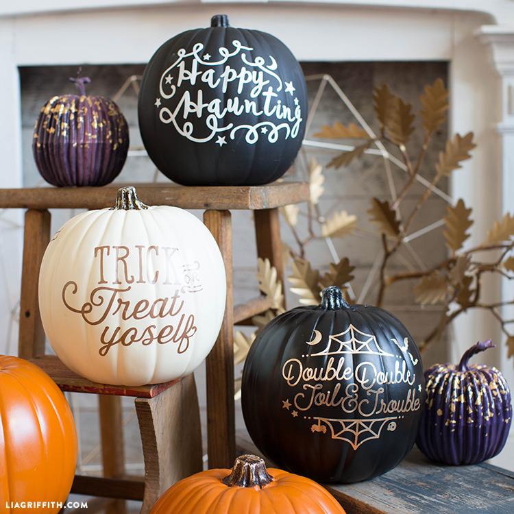 diy pumpkin decals