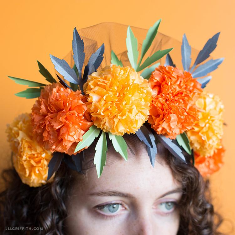 marigold flower crown