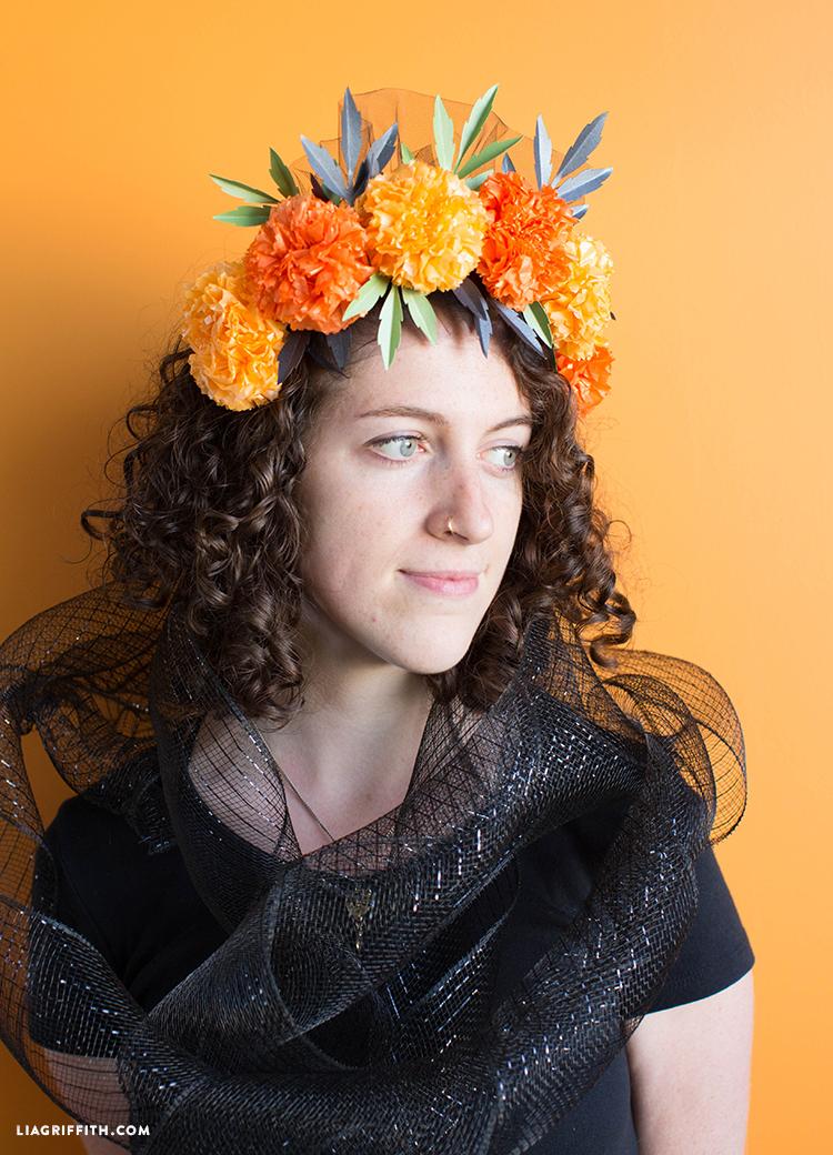 dia de los muertos flower crown