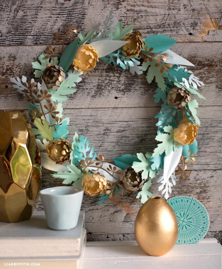 mini mum fall wreath