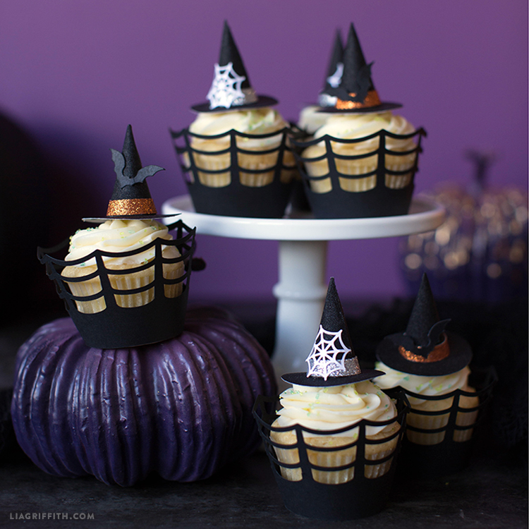 Mini Witch Hat Cupcake Toppers Lia Griffith
