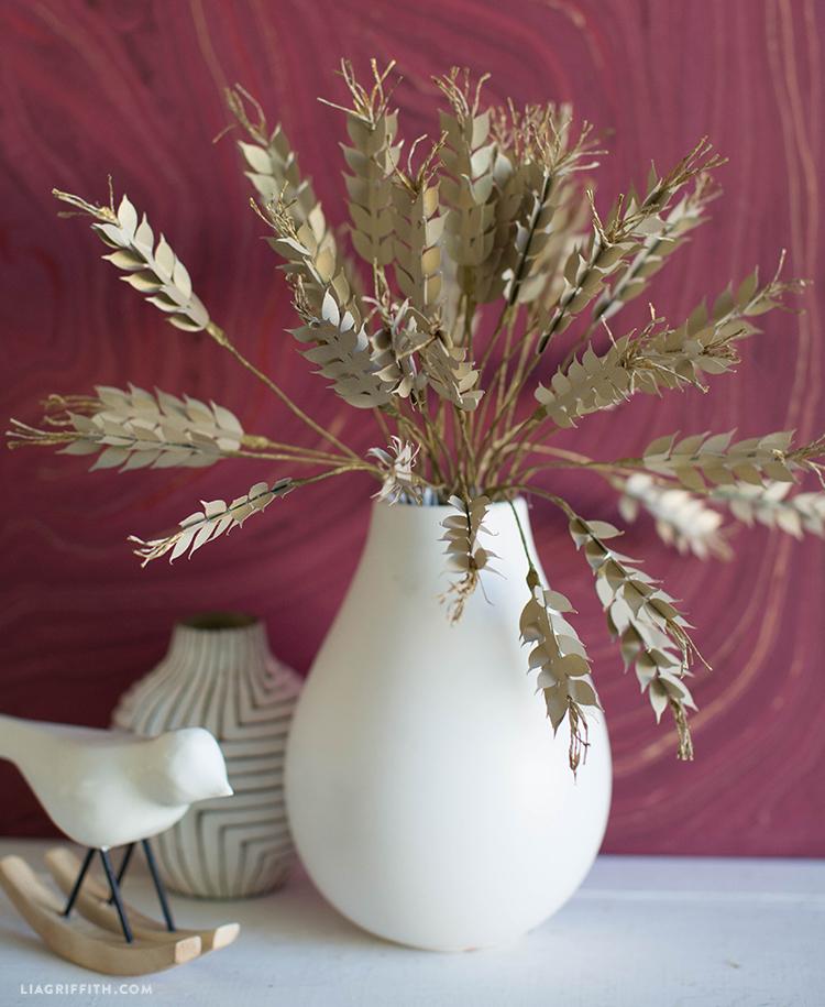 diy paper wheat plant
