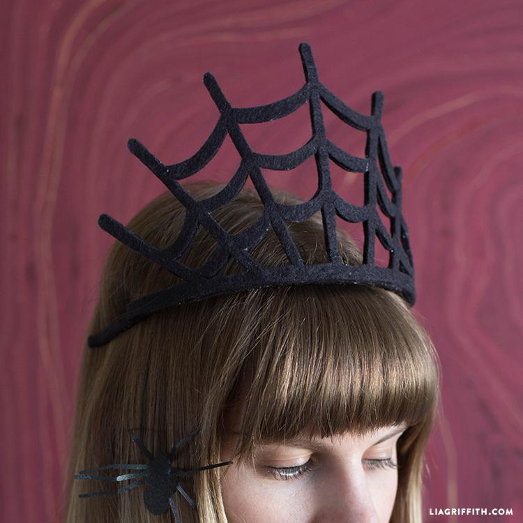 felt spider web crown