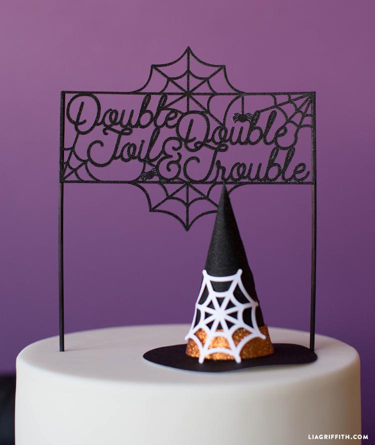 diy halloween cake topper