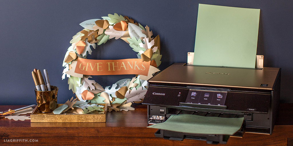 thanksgiving wreath with canon