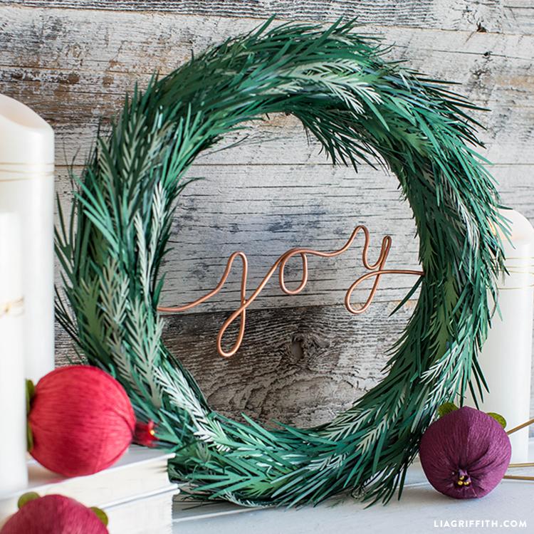 copper joy holiday wreath
