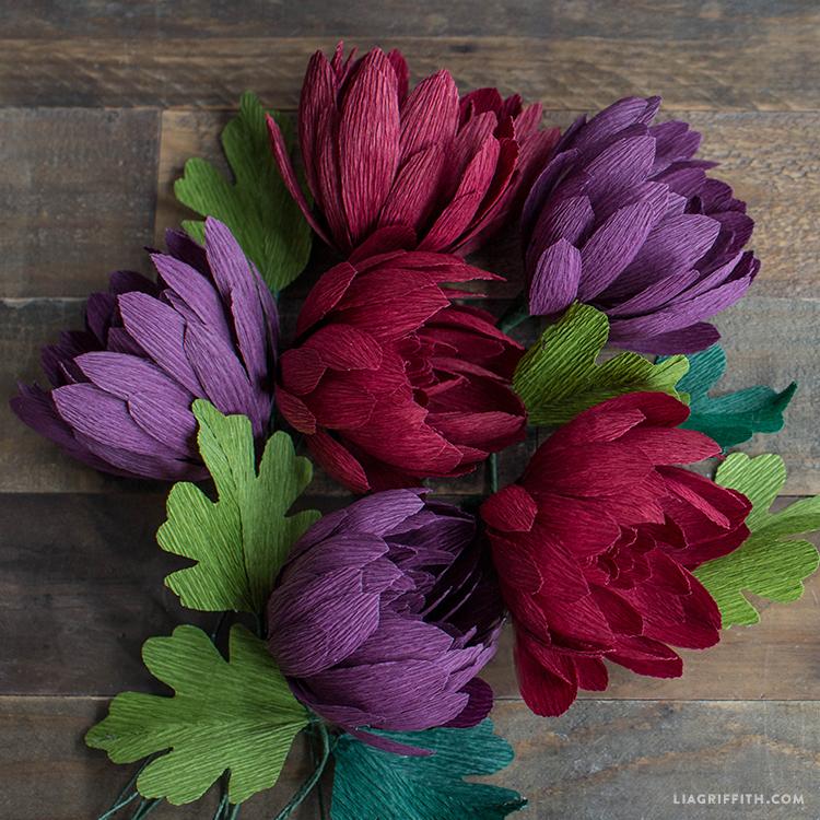 diy mum flower for fall