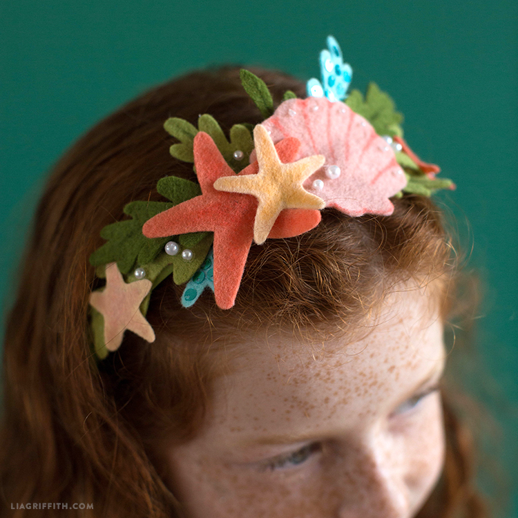 no-sew felt mermaid headband