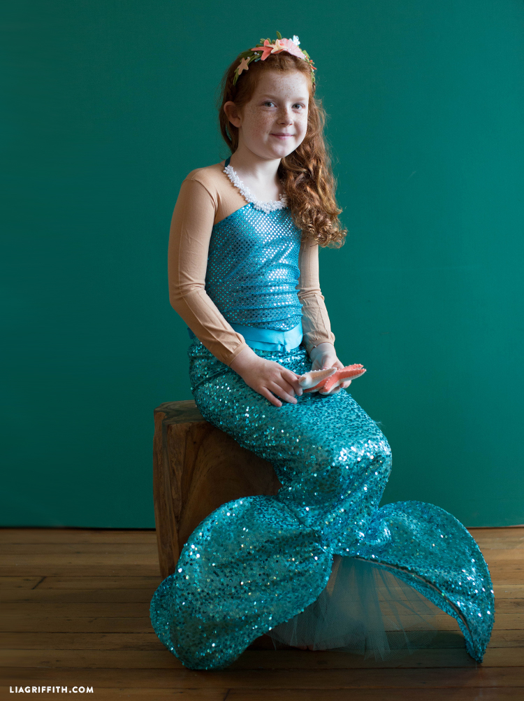 diy kids mermaid costume