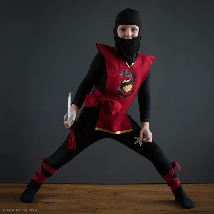 last minute kids ninja costume