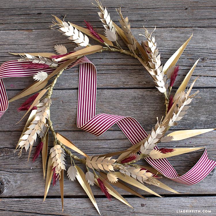 diy paper fall wreath