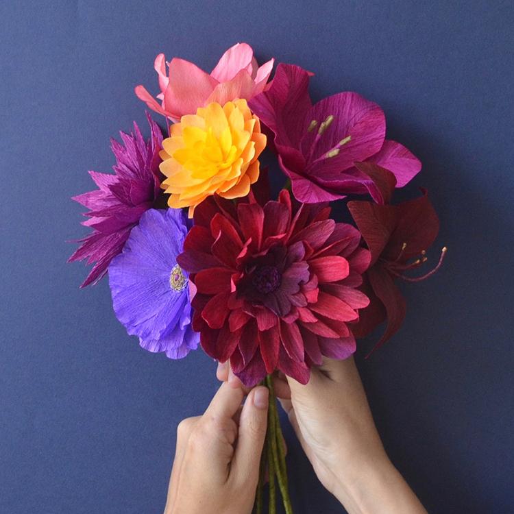 crepe bouquet by lucia balcazar