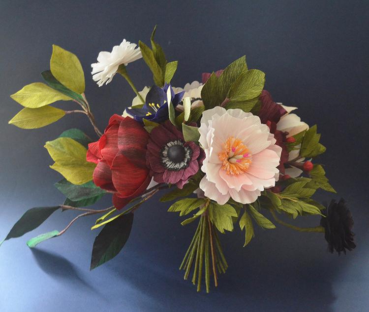 crepe paper bouquet lucia balcazar