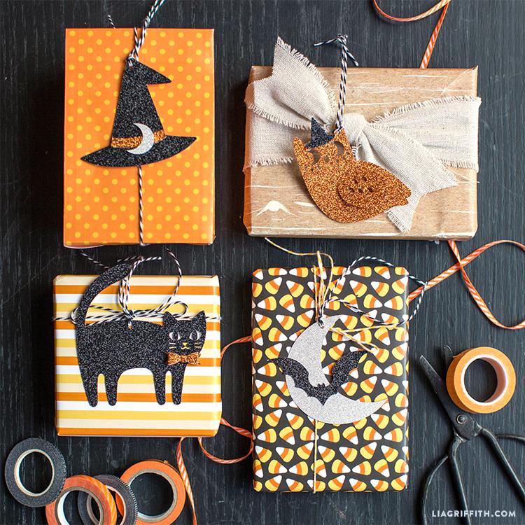 handmade halloween gift tags