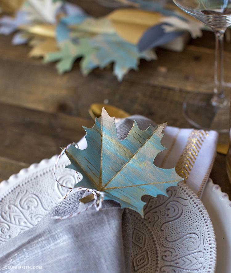 diy paper leaf garland