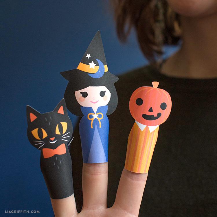 diy halloween finger puppets
