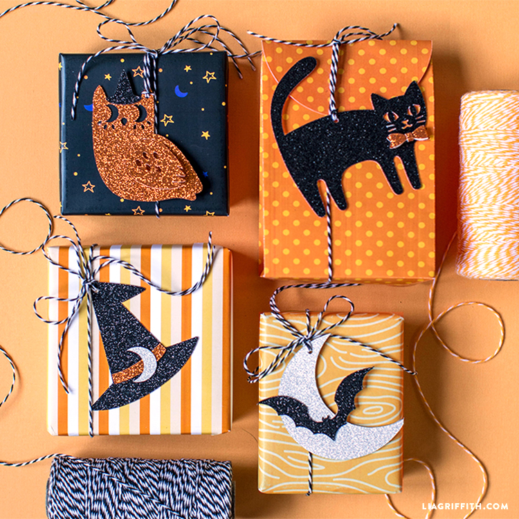 papercut halloween gift tags