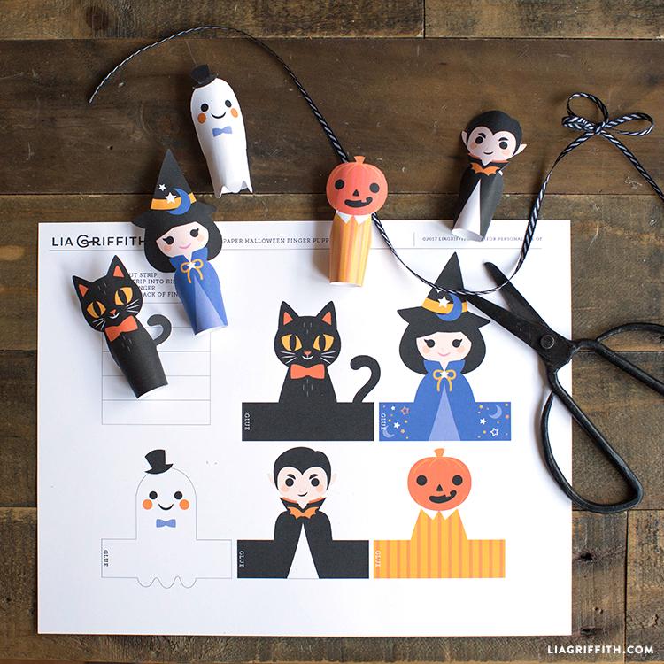 diy paper finger puppets