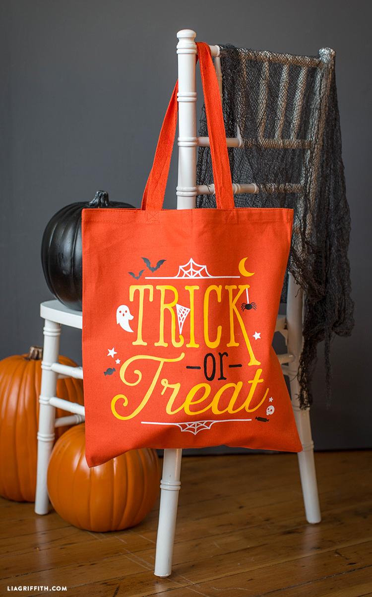 halloween tote bag iron on