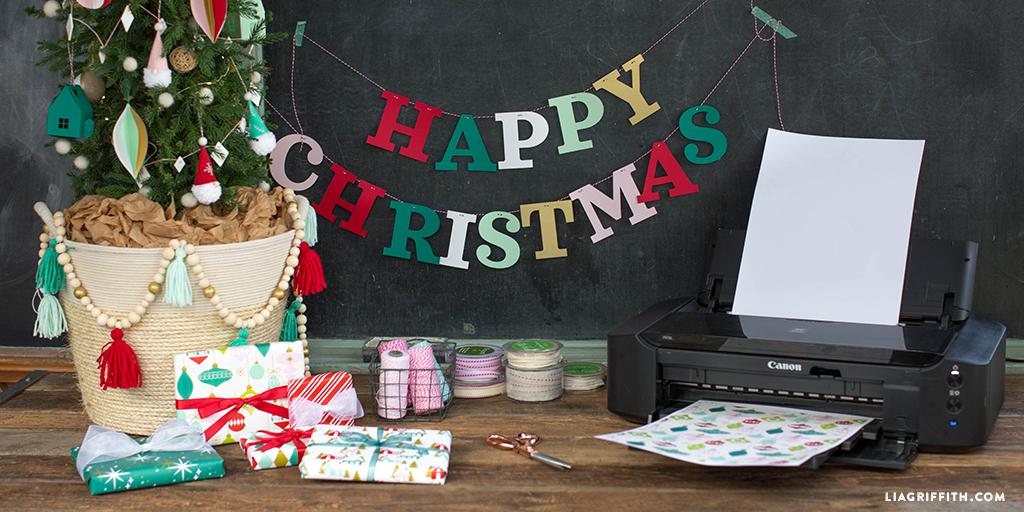 diy printable gift wrap