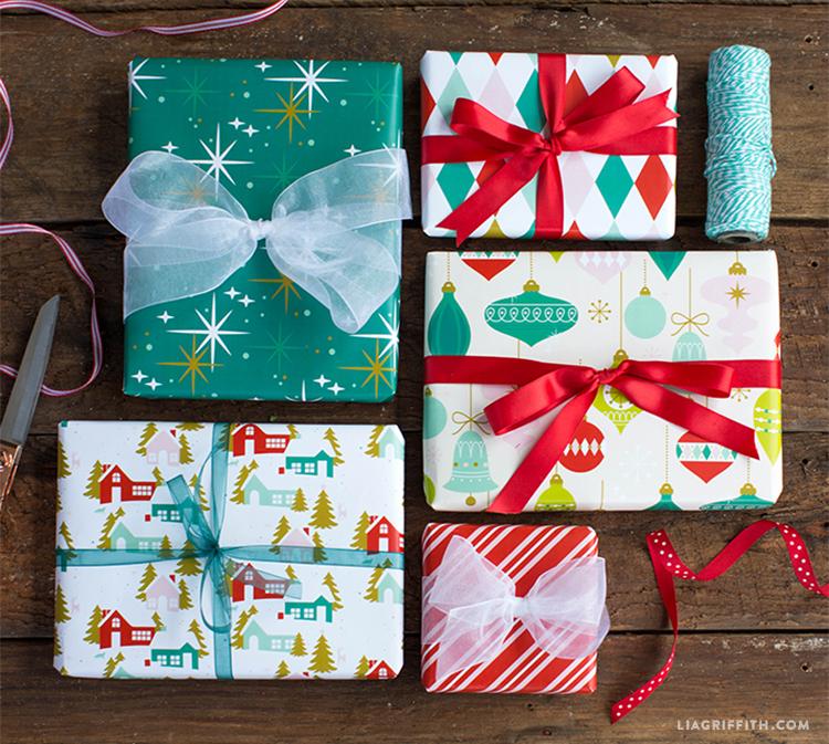 printable christmas gift wrap
