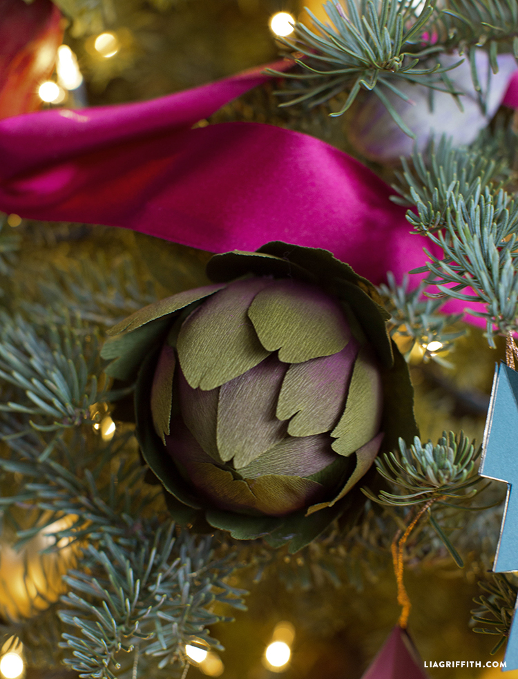 crepe paper ornament