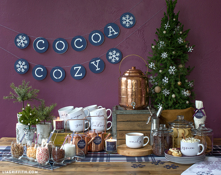 cookie and hot cocoa bar