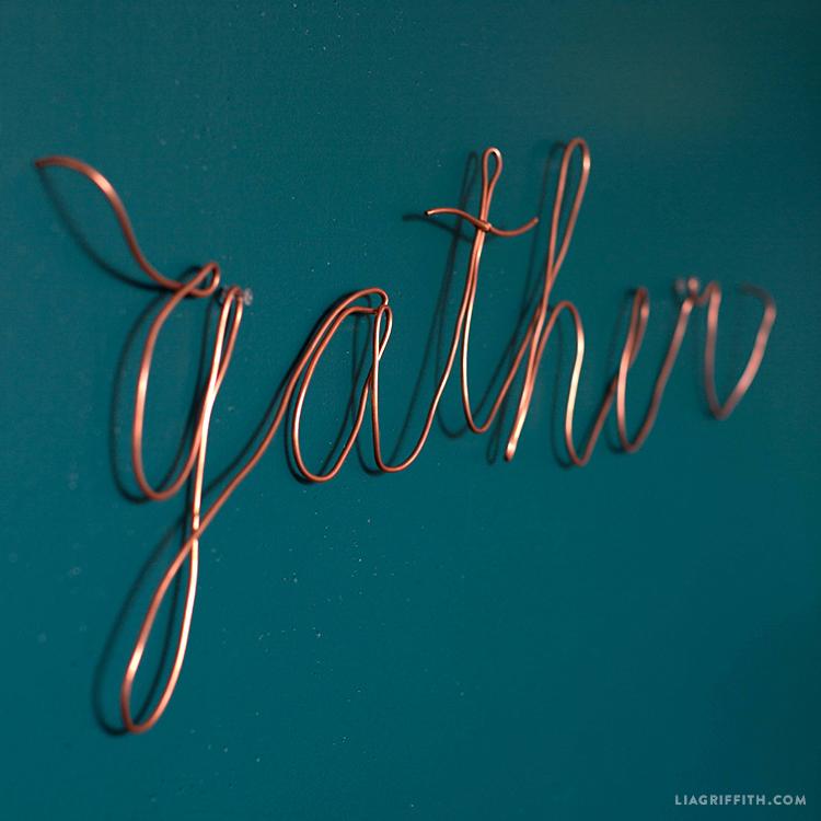 gather copper wire decor