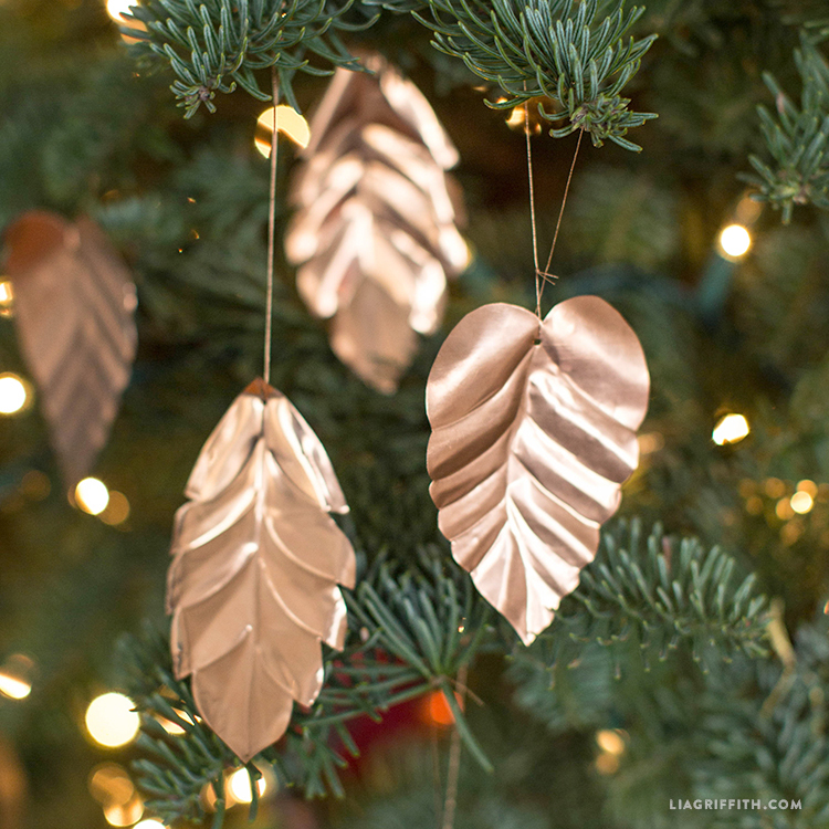 copper leaf ornaments lia griffith copper leaf ornaments lia griffith