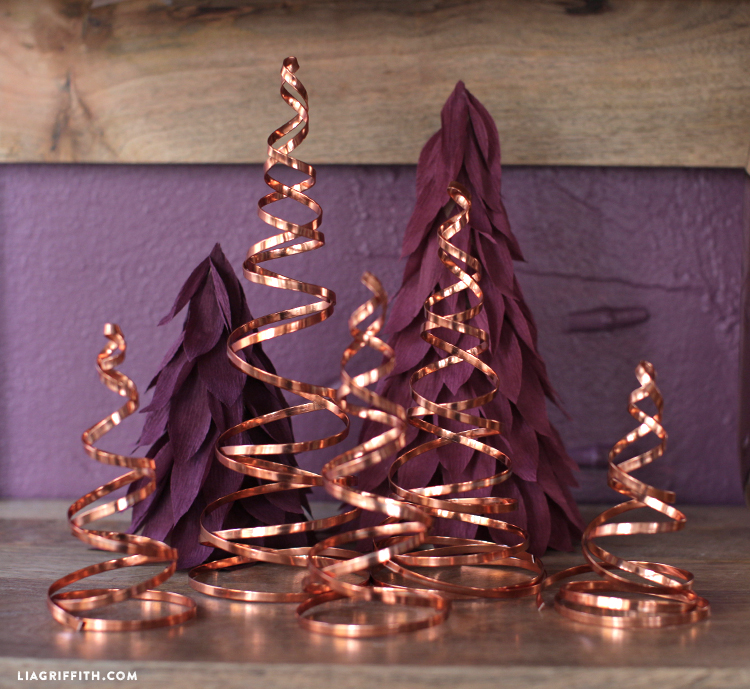 copper wire christmas decorations