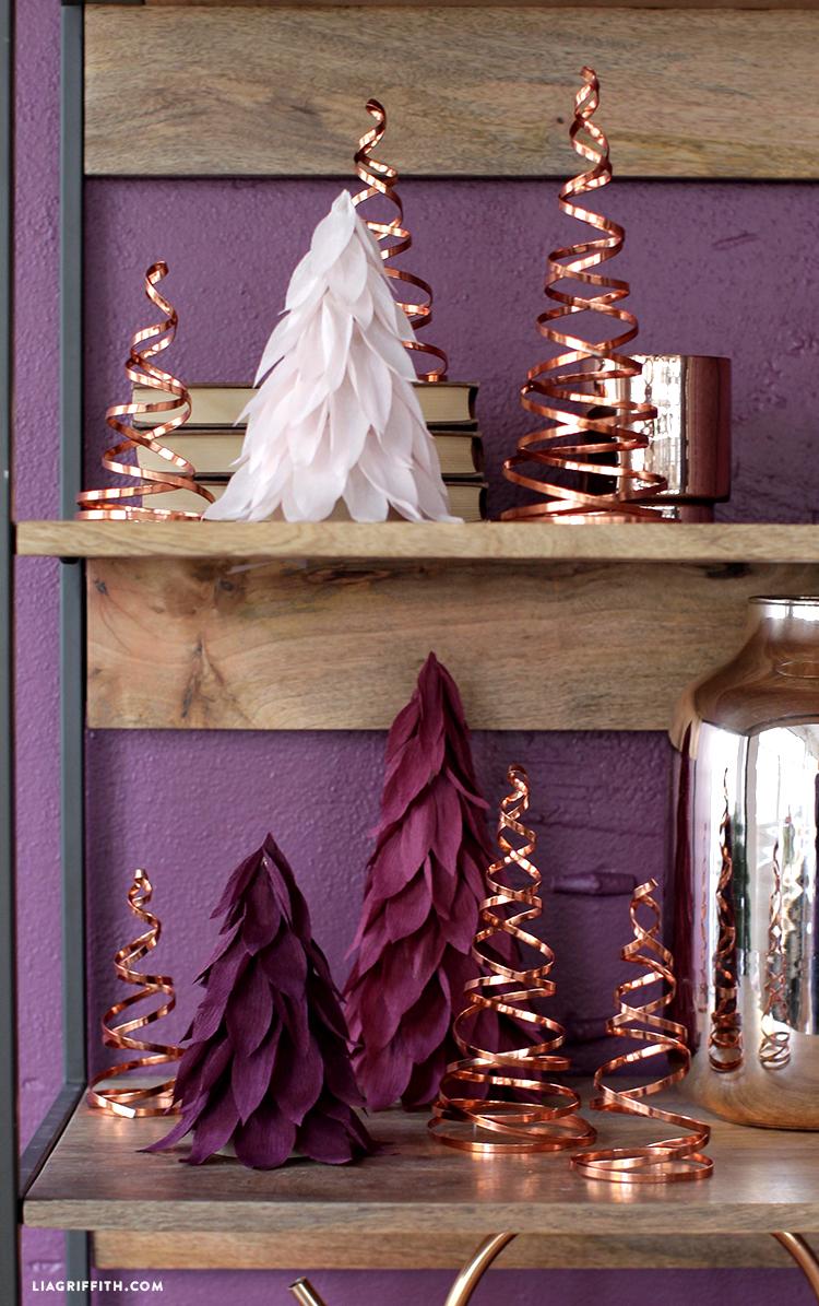 diy copper christmas decor