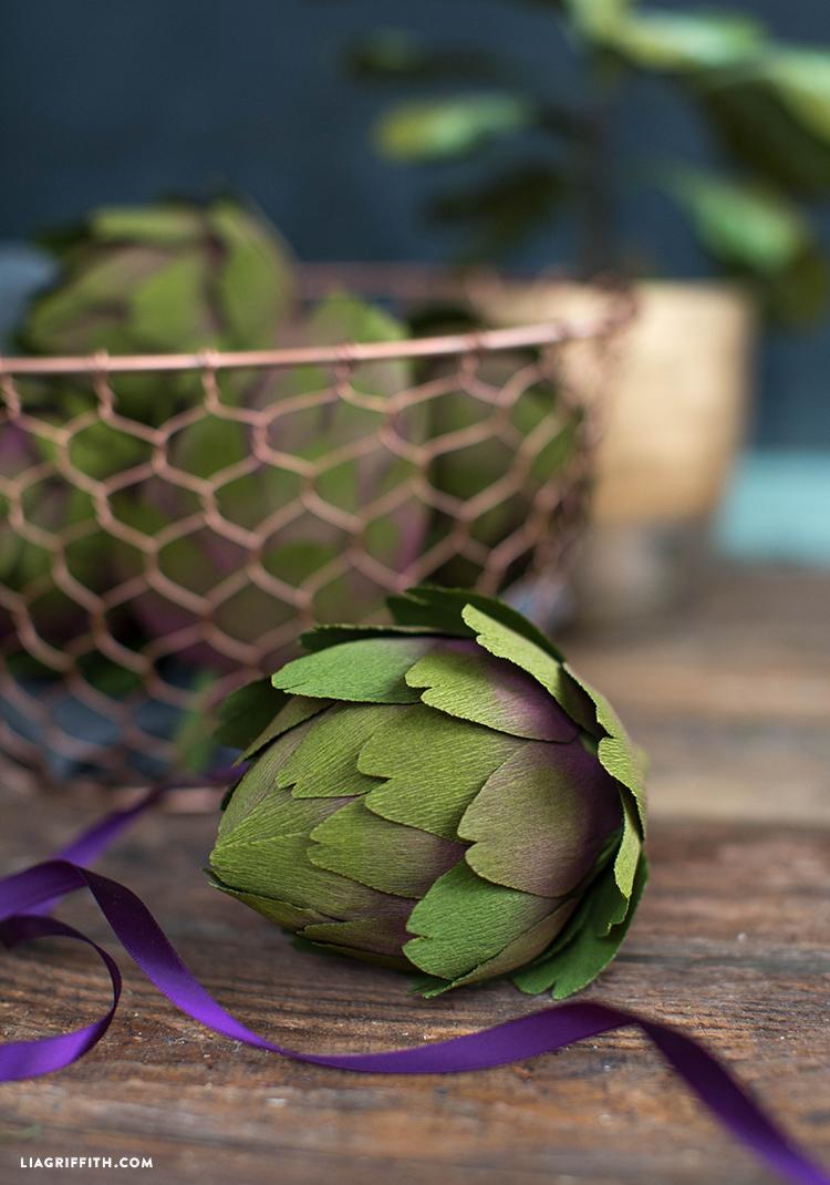 diy crepe artichokes