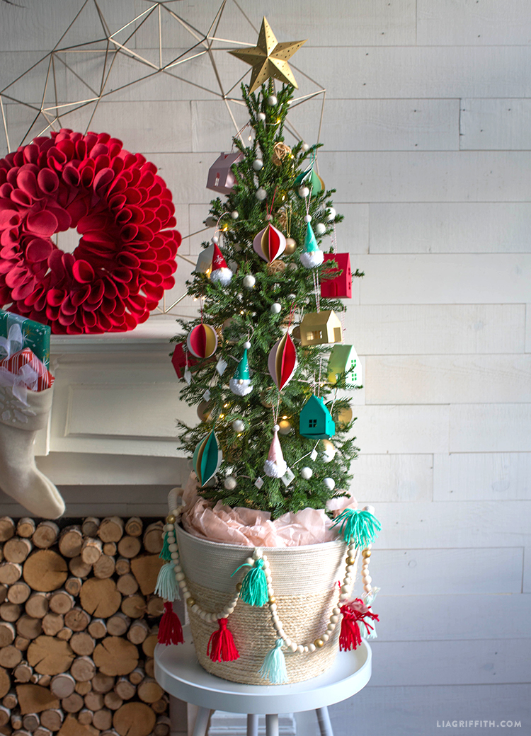 colorful diy christmas tree