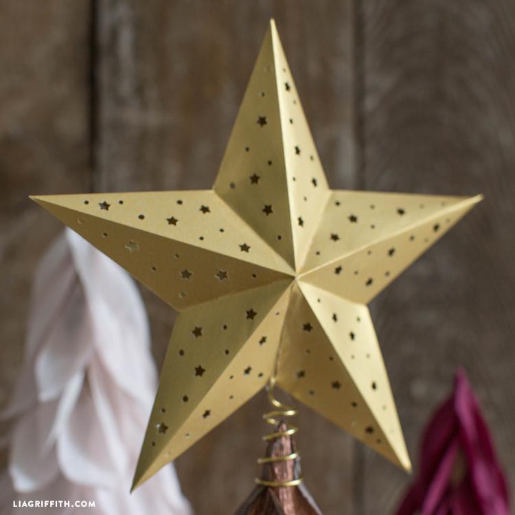 diy star tree topper