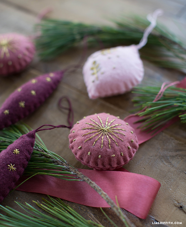 diy embroidered ornament