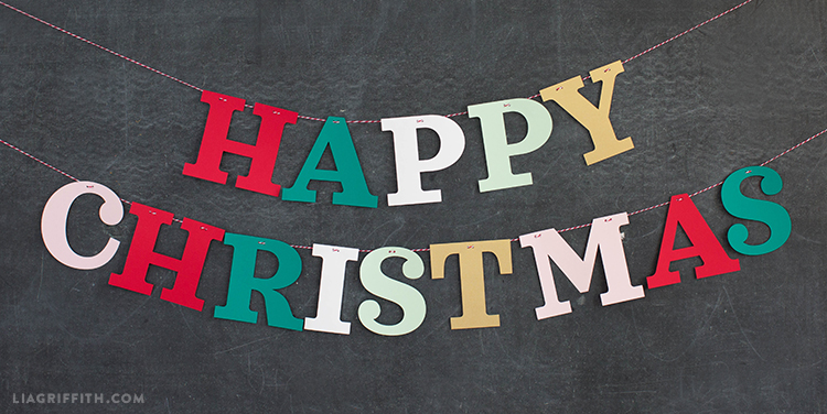 paper christmas banner