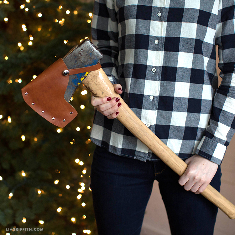leather axe cover
