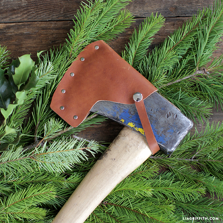 diy leather axe cover